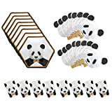 32 Pcs Panda Party Supplies Set, Birthday Decorations Tableware for Kids(Including Plates, Napkins, Cups)