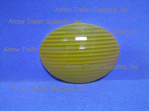 FLEETWOOD RV AMBER PORCH LIGHT LENS, OVAL, SNAP-IN (LENS ONLY) 2/PK