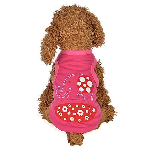 YenMY Elephant Spring and Summer Cartoon Vest Dog Costumes Pet Clothes Funny Summer Puppy Dog Coat (12, Hot Pink)