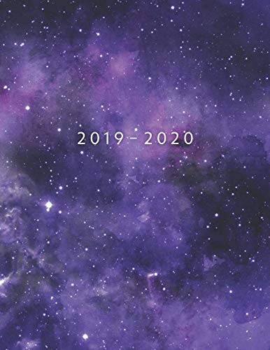 2019 - 2020: Weekly Planner Starting June 2019 - May 2020 | Week To View With Hourly Schedule | 8.5 x 11 Dated Agenda | Appointment Calendar | Organizer Book | Purple Universe