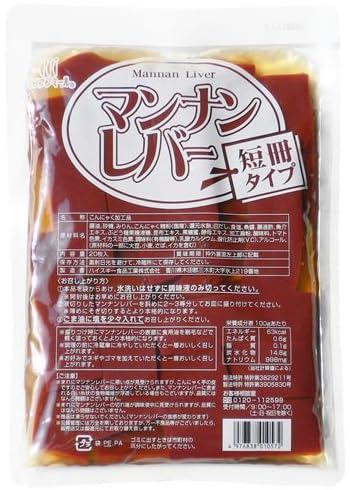 ハイスキー食品工業 マンナンレバー短冊タイプ 20枚入り