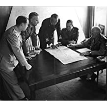 Vintage photo of Bernard Montgomery with other generals in discussion, October 1954.