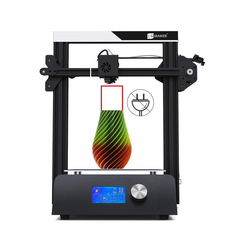 JGMAKER Magic 3D Printer DIY Kit with Filament Run Out Detection Sensor and Resume Print Metal Base 3D Printers for Hobbist Education 220x220x250mm ...