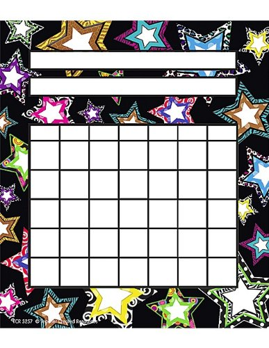 Teacher Created Resources Fancy Stars Incentive Charts (5257)