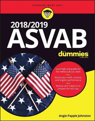 2018 / 2019 ASVAB For Dummies cover