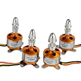 BW® 4Pcs A2212/10T 1400KV Brushless Outrunner Motor for RC Glider Helicopter Aircraft Multi-copter Quadcopter