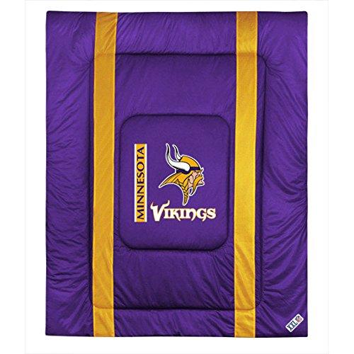 NFL Minnesota Vikings Twin Sideline Comforter (Sports Coverage Nfl Comforter)