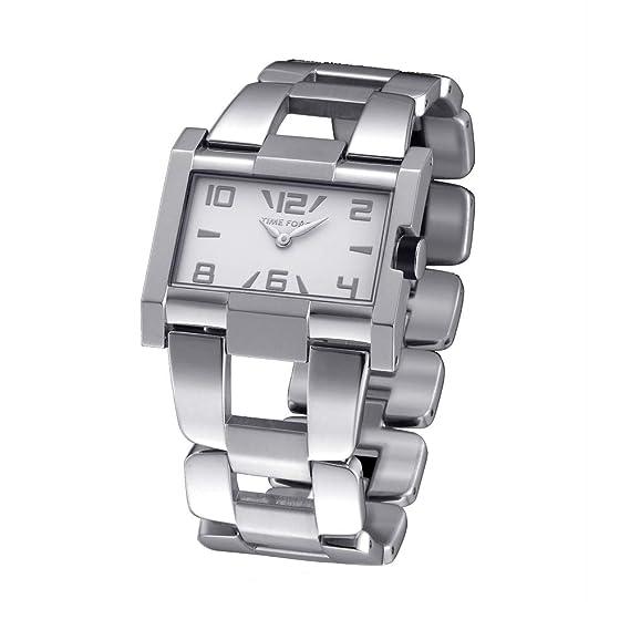 Time Force Reloj Analógico para Mujer de Cuarzo con Correa en Acero Inoxidable TF4033L02M: Amazon.es: Relojes