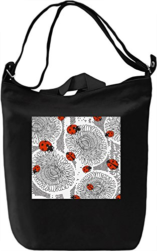 Ladybird Pattern Borsa Giornaliera Canvas Canvas Day Bag| 100% Premium Cotton Canvas| DTG Printing|