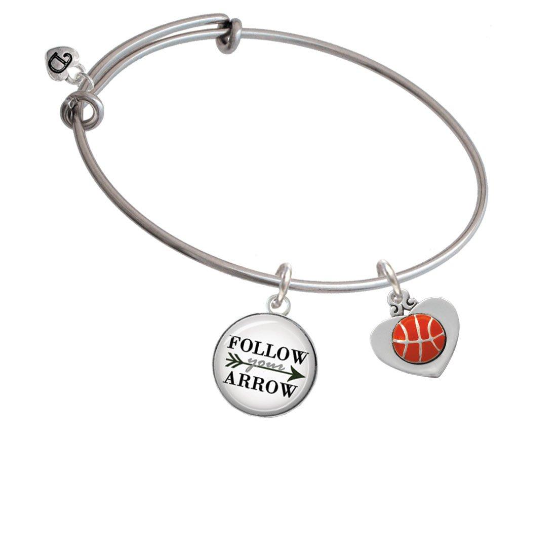 Baloncesto en corazón Follow Your Arrow brazalete pulsera: Amazon ...