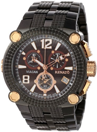 Renato Men's FLGR-BR-FLG-G10 Vulcan Innovative Multiple Piece Case Watch