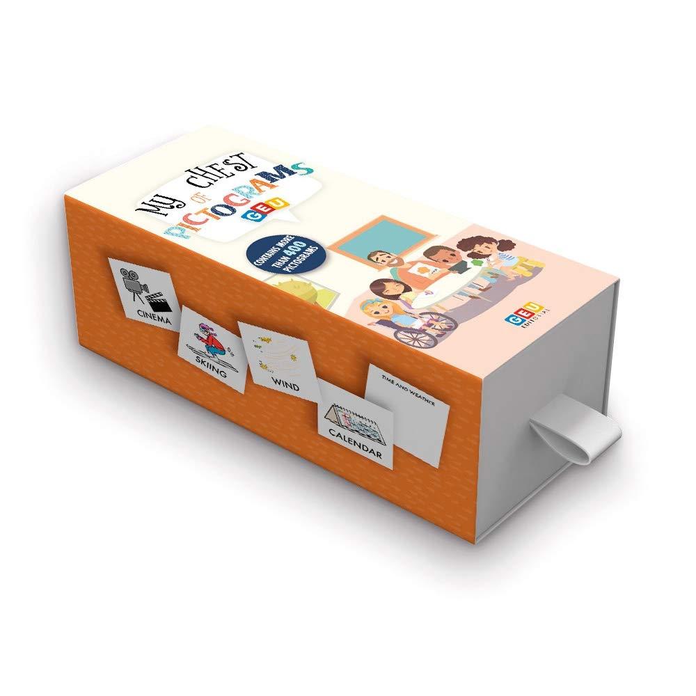 My Chest Of Pictograms: Mi estuche De Pictos En Inglés | 400 Tarjetas con pictogramas para Facilitar La comunicación del Niño/A En Inglés | Editorial Geu Early Childhood Education: Amazon.es: Editorial Geu: