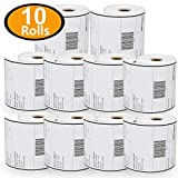 """[10 Rolls, 250/Roll] 4"""" x 6"""" Direct Thermal Zebra/Eltron Compatible Labels - Premium Resolution & Adhesive"""