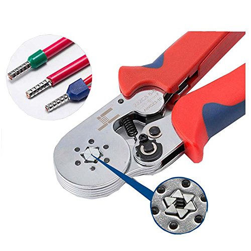 LUBAN Self-Adjustable Crimping Plier HSC8 6-6A Multi Hand Tool Used for 0.25-6.0mm2 Terminals