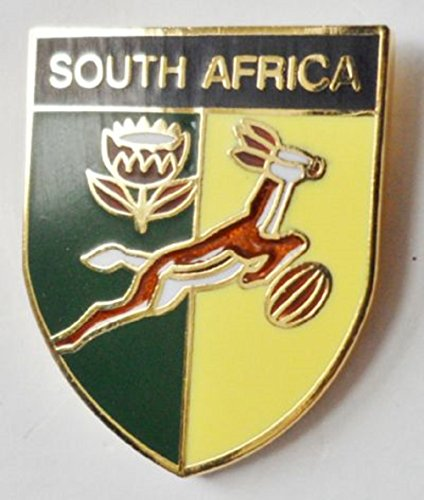 (South Africa Springbok Rugby Team Enamel and Metal Pin Badge)