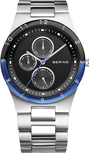 BERING Time 32339-702 Men's Ceramic Collection Watch with Link Band and scratch resistant sapphire crystal. Designed in Denmark.