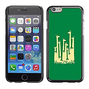 TopCaseStore / la caja del caucho duro de la cubierta de protección de la piel - Giraffe Africa Minimalist Artistic - Apple iPhone 6 Plus 5.5