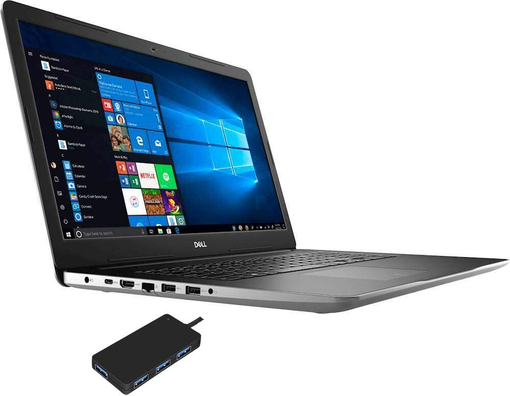 """Amazon.com: Dell Inspiron 17 3793 Home and Business Laptop (Intel i7-1065G7  4-Core, 32GB RAM, 16GB Intel Optane + 2TB HDD, NVIDIA GeForce MX230, 17.3""""  Full HD (1920x1080), WiFi, Win 10 Pro) with"""