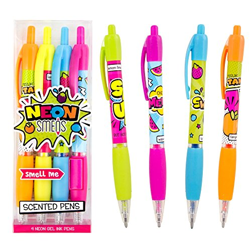 Scentco Neon Gel Ink Smens 4-Pack of Gourmet Scented Pens]()