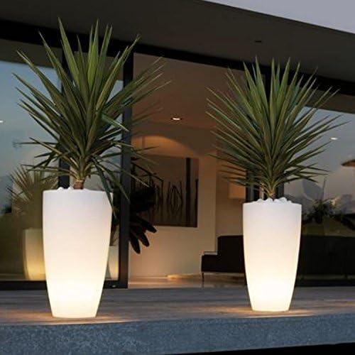 Vase rund \'STILO Lamp\' mit Innenlicht. Polyethylen bunt. Elegante in Puro Stil Modern, ist ein gutes Wohnaccessoires und passt zu vielen Umgebungen in denen angebracht werden.