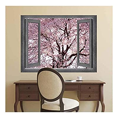 Open Window Creative Wall Decor A Forest of Cherry Blossoms Wall Mural
