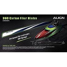 Align T-Rex 450L 360 Carbon Fiber Blades Blue HD360B by ALIGN