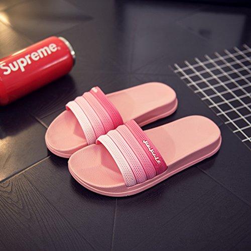 FankouLas parejas zapatillas verano baño antideslizante baño anti-stinky wedding Inicio cosas lindas para llevar zapatillas de mujer cool verano ,39, watermelon red