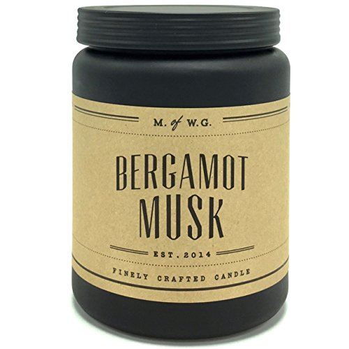 Makers of Wax Goods Bergamot Musk Scented Candle with Two Wicks in a Frosted jar
