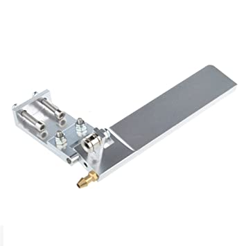 75mm Metal Water Absorbing Steering Rudder With Absorbing Water RC Ship Silver