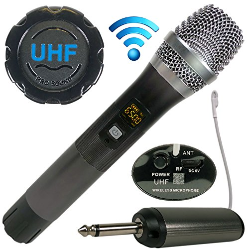 EMB Professional EBM40W UHF Wireless Handheld Microphone with Wireless Receiver/Selectable UHF Frequencies/for Home, Karaoke, DJ, Church, Business