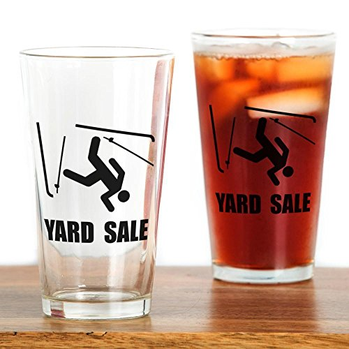CafePress Ski Yard Sale Pint Glass, 16 oz. Drinking -