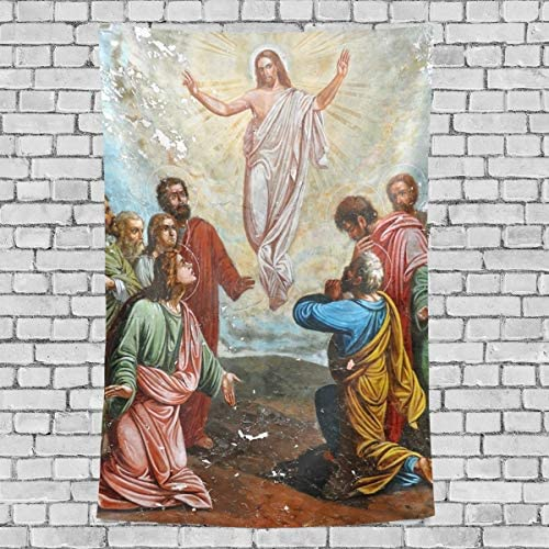 RsebidR Jesus Christ Son of God Wall Tapestry Vertical Hanging Throw Bedspread for Home Livingroom Dorm 60 X90