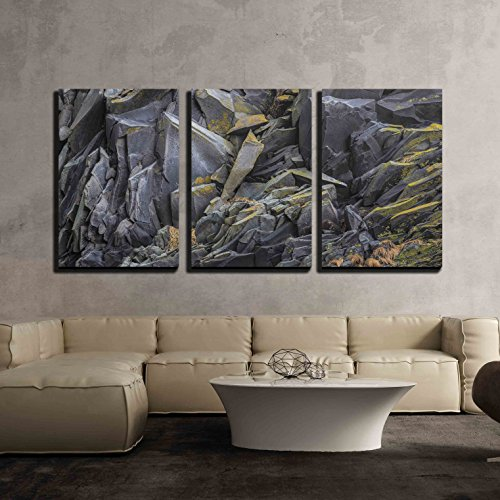 wall26 - 3 Piece Canvas Wall Art - Iceland Nature - Modern Home Decor Stretched and Framed Ready to Hang - 24