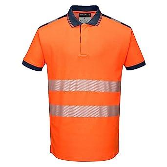 Portwest T180ORRM Vision Hi-Vis - Polo, talla M, color naranja ...