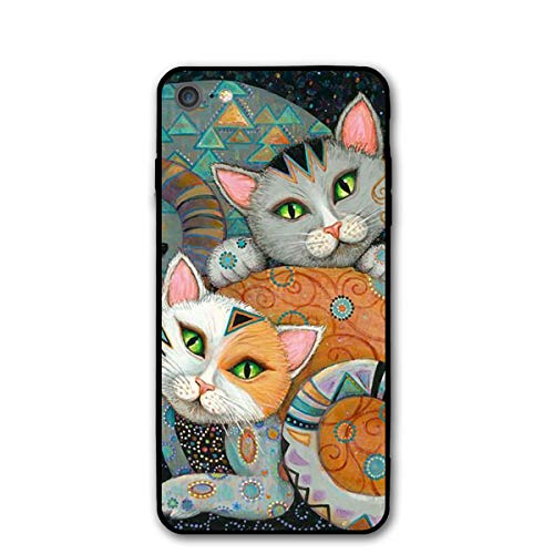Phone Case Compatible with iPhone 7 iPhone 8 Tattoo Cat Lightweight Anti-Fingerprint Slim Soft Covers]()