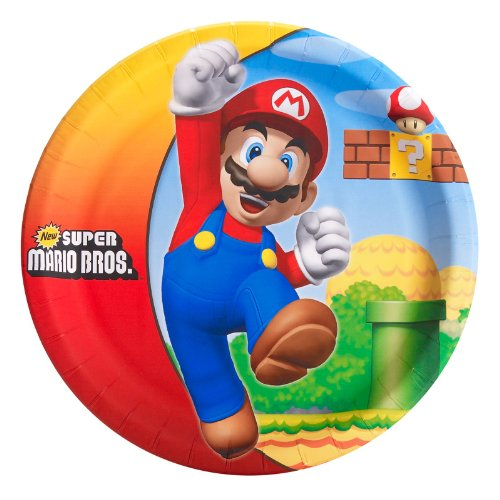 Super Mario Bros Kids Yoshi Accessory Kit (Super Mario Bros Party Supplies - Dinner Plates (8))