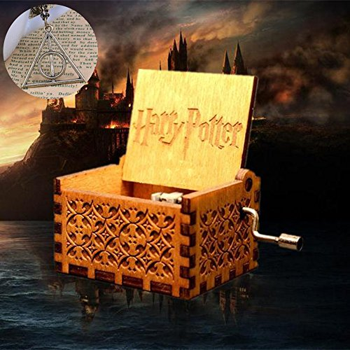 Sooye Harry Potter Music Box - 18 Note Mechanism Music Box Crafts Melody Castle in Hand (Hedwig Theme)