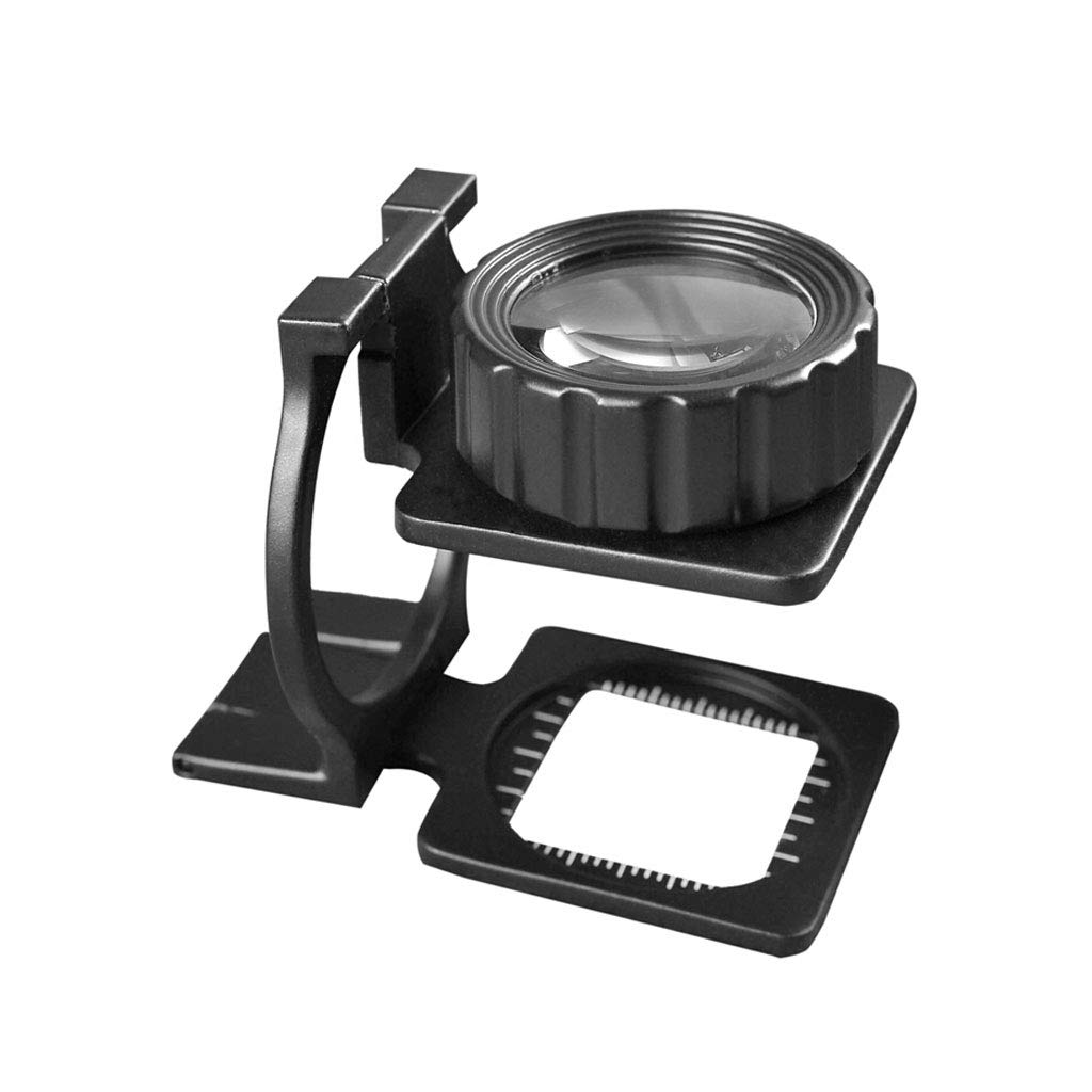 Dceer Metal Magnifier 20x Latitude und Longitude Density Mirror Antike Erkennung