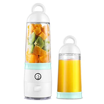 Aobni Exprimidor portátil, Taza de Frutas multifunción de 400 ml, Mini exprimidor de Viaje Recargable, Frutas y Verduras, licuadora Uso Personal: Amazon.es