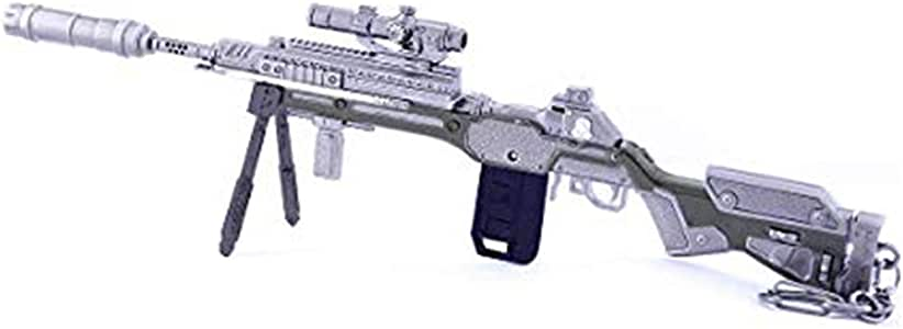 APEX Legends Game Collection 1/6 Metal G7 Scout Sniper Rifle Gun Model Keychain Action Figure Arts Toys Gift Backpack Pendant Party Supplies Desk Decoration Gun