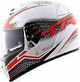 LS2 Helmets - FF390 - Breaker - Split White Red Matt Dual Visor Full Face Motorcycle Helmet (Size: L - 58 cms)