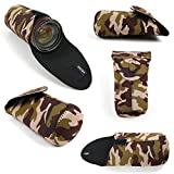 DURAGADGET Exclusive, Large Water-Resistant Neoprene Pouch/Case in Camouflage Print Compatible with the LG MUSIC, THE ART OF SOUND ART51
