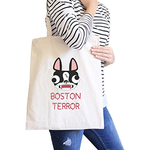 Terror Terrier Natural Canvas Foldable Tote Dog Owner Gift ()