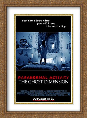 Paranormal Activity: The Ghost Dimension 28x38 Double Matted Large Large Gold Ornate Framed Movie Poster Art Print by ArtDirect