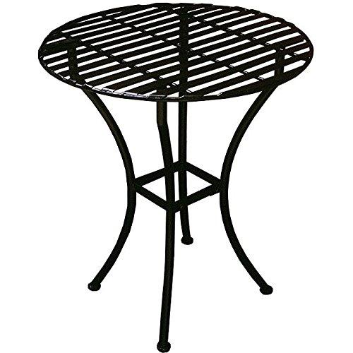 PTC Home & Garden Bistro Round Table, Black by PTC