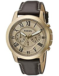 Fossil Grant Gold Dial Mens Chronograph Watch FS5107