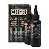 Cheri - Non-Wipe Gel Top Coat 8OZ REFILL, 2x4oz BOTTLES, Gel Polish, UV Led Soak Off Nail Polish, MADE IN THE USA