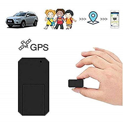 Mini GPS Tracker,Hangang Strong Magnetic GPS Tracker Real Time Locator Portable Tracking Device Long Standby Time 200h for Vehicles, Cars, Kids, Persons, Family, Assets by Hangang