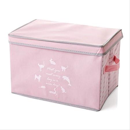 zxing 3D Grandes Libros Zapatos Caja Plegable Caja organizadores, Cajas de Almacenamiento de Juguetes para niños, Calcetines Bufanda Bufanda artículos de la organización de Limpieza 38x25x25cm A2: Amazon.es: Hogar