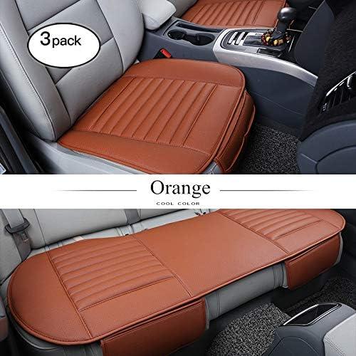 HONCENMAX Auto Sitzauflage Sitzkissen Universal Sitzauflagen Autositzbez/üge 2+1 Vorder und R/ücksitzbez/üge BambusKohle PU Leder - Ohne R/ückenlehne